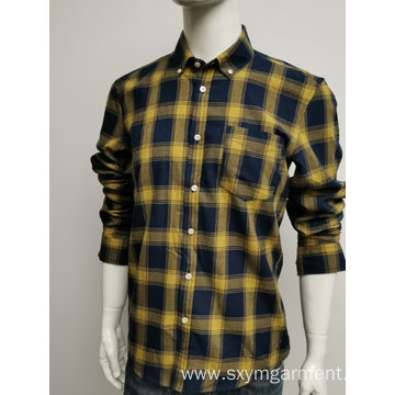 Men's fine cotton yd check ls shirt